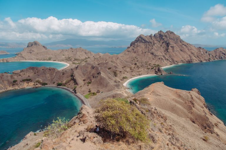 Landscape of Pandar Island in Indonesia