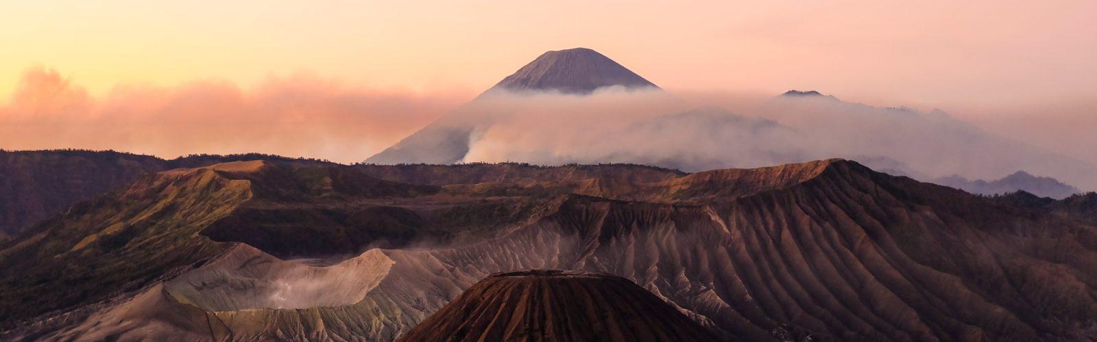 Landscape of Mount Bromo National Park Indonesia