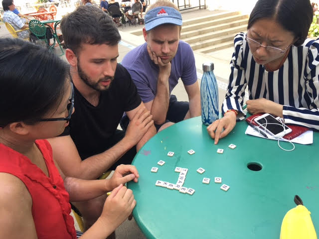 Students studying Indonesian Language using games