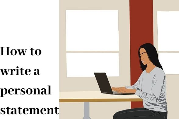 How to Write a Personal Statement Graphic