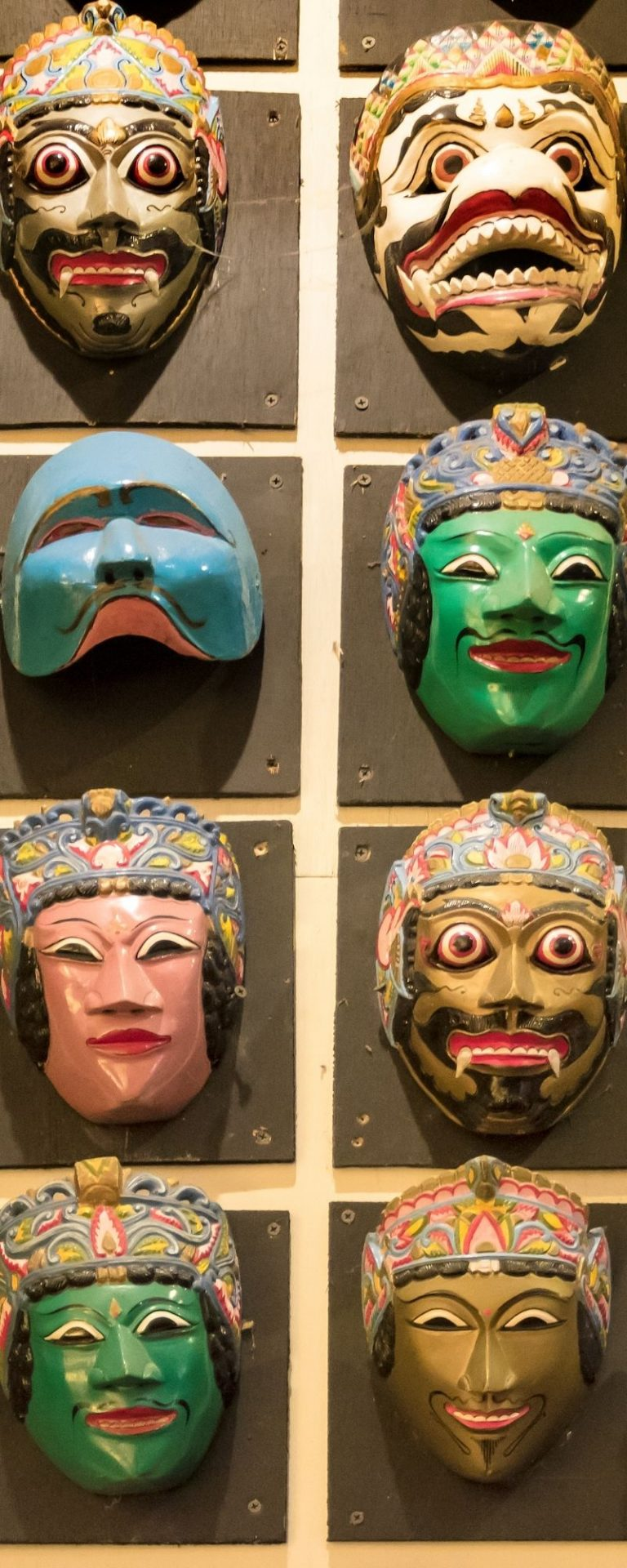 Traditional Masks Made in Malang, Indonesia