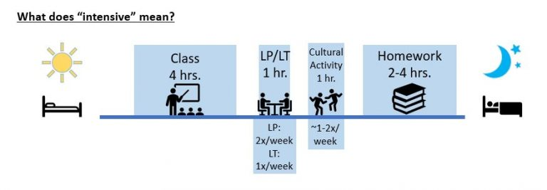 Expected hours of IFLI student activity per day